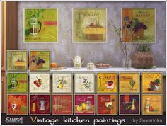 Sims by Severinka: Vintage kitchen painting • Sims 4 Downloads
