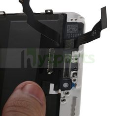 OEM Complete LCD Screen with Digitizer Assembly Replacement for iPhone 6 Plus White includes LCD screen, touch screen, digitizer frame, and earpiece mesh