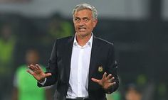 José Mourinho reacts during Feyenoord's 1-0 win at Manchester United