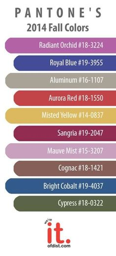 Pantone color forecast for fall 2014 | Pantone's Fall 2014 colors