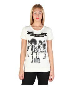 T-shirt, short sleeves - 94% modal, 6% elastane - handwash - italian size - T-shirt women White