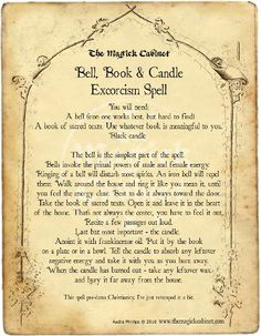 Grimoire, Book of Shadows, Free Spells, Real Witch Spells, Exorcism Spell, Clearing, The Magick Cabinet