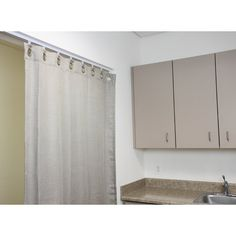 Shop for InStyleDesign Heavy Duty White Ceiling Curtain Track / Room Divider. Get free delivery On EVERYTHING* Overstock - Your Online Home Decor Outlet Store! Get in rewards with Club O! Ceiling Curtain Track, Ceiling Curtains, Room Divider Curtain, Room Dividers, Traditional Curtain Rods, Oakland Apartment, Wave Curtains, Curtain Panels, Mint Decor