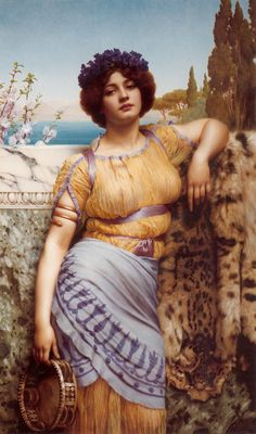#ARTIST John William Godward - Ionian Dancing Girl