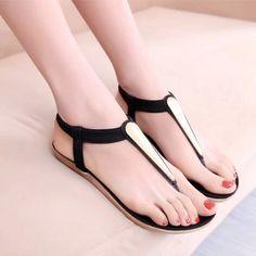 Elegant Slip-On Charm Decorated Flip-Flop Casual Sandals - 3 Colors
