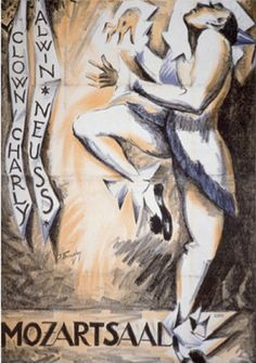 By Josef Fenneker (1895-1956), 1918, Clown Charly. (G)