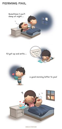 Morning mail - image hj story, love him, what is love, love is Cant Sleep At Night, When You Cant Sleep, Hj Story, Cute Love Stories, Love Story, Good Morning Letter, Ah O Amor, Love Facts, Cute Love Cartoons