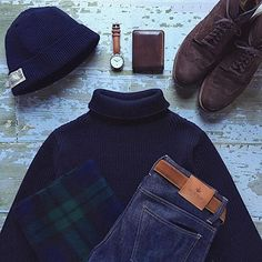 @jeffdepano #Sweater: #AndersenAndersen_DK Symmetrical #Turtleneck via #DivisionRoadInc Watch Cap: The Real McCoy's Watch: #DanielWellington Wallet: #VermilyeaPelle via #BlueOwlWorkshop Scarf: #BeggAndCo Jeans: #Shockoe_Atelier Slim Kojima Belt: #Alden Snuff Suede Belt Boots: #BrickMortarSeattle Alden Reverse Tobacco Chamois #WingtipBoot #DepanoGrid #mensfashion #mensstyle #mensgoods #mensboots #mensfashionblog #mensapparel #menscloset @mallenpics