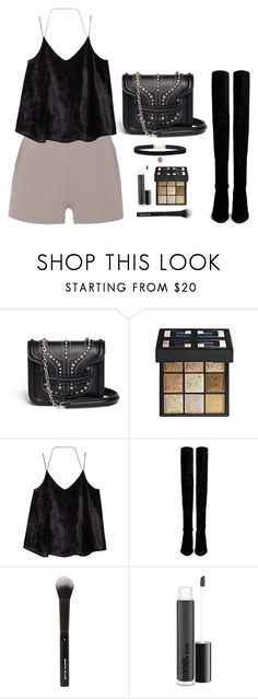 """read description !!"" by hi-its-shannon ❤ liked on Polyvore featuring Alexander McQueen, Givenchy, MANGO, Stuart Weitzman, Beauty Is Life and MAC Cosmetics"