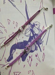 Clint Barton / Hawkeye Inspired Purple Faux by BombDotComGeekery, $8.00