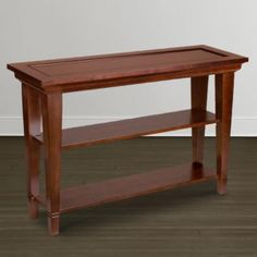 Console Table Cherry Finish