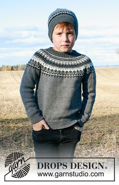 Ravelry: Dalvik pattern by DROPS design Baby Knitting Patterns, Jumper Patterns, How To Start Knitting, Knitting For Kids, Free Knitting, Drops Design, Pull Jacquard, Baby Cocoon Pattern, Pulls