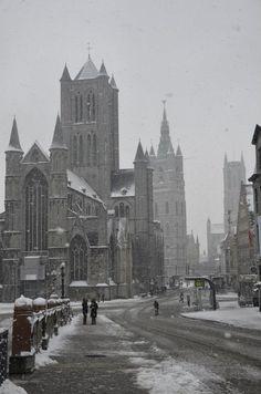 The three towers, Ghent - Belgium