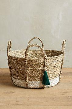 Slide View: 5: Balinese Tassel Basket