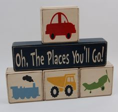Oh The Places You'll Go-Transportation cars, trains, dump truck, airplanes home decor, birthday decoration, nursery room decor