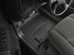 Black WeatherTech Custom Fit Rear FloorLiner for Select Cadillac//Chevrolet//GMC Models