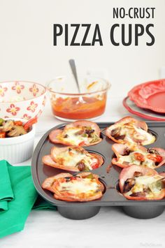 No Crust Pizza Cups - low carb family dinner recipe!