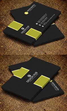 Business Card Template #businesscards #psdtemplates #corporatedesign #businesscarddesign
