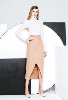 #AdoreWe Few Moda, Minimalistic Fashion Brands Online - Designer Few Moda Front Split Skirt - AdoreWe.com