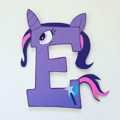 Twilight Sparkle Custom Name Wooden Letters Sign Arte My Little Pony, Cumple My Little Pony, My Little Pony Birthday, Painted Letters, Wood Letters, Mickey Mouse Letters, Sparkle Paint, Twilight Sparkle, Custom Wood