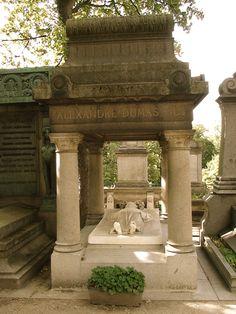 Tomb of Alexander Dumas in Montmartre Cemetery, in the 18th arrondissement of Paris