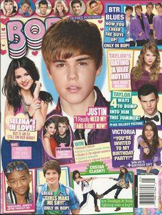 Bop magazine Justin Bieber Selena Gomez Big Time Rush Taylor Swift Jaden Smith