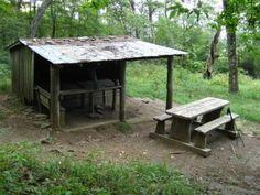 Siler Bald Shelter, a short blue blaze trail off the Appalachian Trail.