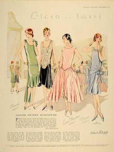 art deco Worth evening dress, ca. 1900