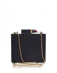 Lulu Guinness Perspex Chloe Clutch Bag Black - http://bags.bloggor.org/lulu-guinness-perspex-chloe-clutch-bag-black/