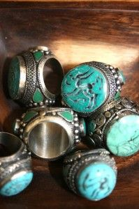 Turquoise rings - I'd like all of these :)