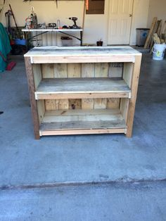 TV stand made out of pallets