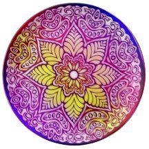 Rainbow Lotus Mandala Plate Porcelain Plates