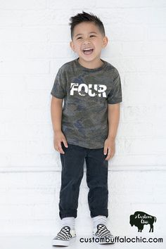 Dinosaur Birthday Shirt Dinosaur knockout Fourth birthday super soft tee #4thbirthday #fourthbirthday #four #trexshirt #dinosaurshirt #dinosaurbirthday #dinosaur Cute Outfits With Leggings, Cute Outfits For Kids, Boy Outfits, Toddler Boy Fashion, Kids Fashion, Trendy Fashion, Boys Shirts, T Shirts For Women, T Rex Shirt