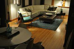 Mid century modern meets 1939 1.5 story living room.