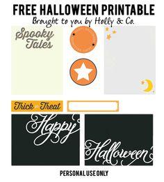 Free Halloween | Printable Holly & Company
