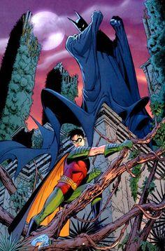 #Batman #And #Robin #Fan #Art. (Batman & Robin) By:Dan Jurgens. (THE * 5 * STÅR * ÅWARD * OF: * AW YEAH, IT'S MAJOR ÅWESOMENESS!!!™) ÅÅÅ+