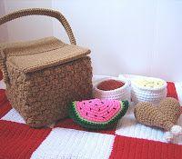 CROCHET N PLAY DESIGNS: New Crochet Pattern: Picnic