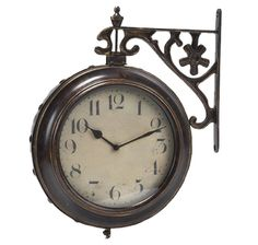 railway station train double sided metal clock antiqued metal clock office younoodle vibe pinterest clock the ou0027jays and trau2026