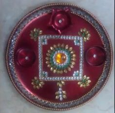 1000 images about pooja thali decoration on pinterest for Aarti thali decoration with clay