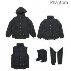 PHANTOM ( ファントム )/ リバーシブル 中綿ジャケット ベスト 4WAY REVERSIBLE JACKET ( BLACK )