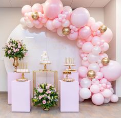 """Jazzmine - The Balloon River on Instagram: """"🕊 Holy communion • • • 𝐄𝐯𝐞𝐧𝐭 𝐬𝐭𝐲𝐥𝐢𝐬𝐭 @burbujaeventstylist 𝐁𝐚𝐥𝐥𝐨𝐨𝐧𝐬 @theballoonriver 𝐂𝐚𝐤𝐞 @hanolicakesinc 𝐒𝐰𝐞𝐞𝐭𝐬 @sweet_touch_by_iva…"""" Pink Party Decorations, Wedding Shower Decorations, Girl Baby Shower Decorations, Backdrop Wedding, Balloon Arch, Balloon Garland, Balloon Display, Pink Balloons, Birthday Balloons"""