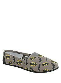 Gray Batman slip ons