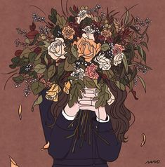 Image shared by Danny 🤗😊. Find images and videos about cute, art and flowers on We Heart It - the app to get lost in what you love. Illustration Art Nouveau, Dibujos Cute, Cartoon Art Styles, Anime Art Girl, Aesthetic Art, Graphic, Cute Drawings, Art Sketches, Cute Art