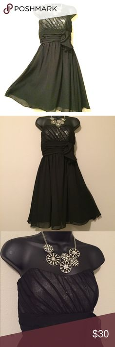Alfred Angelo Prom Homecoming Formal Dress Be the belle of the ball with this Alfred Angelo! Sequin detail is amazing. Zip back closure. Size 8 but sides were taken in to fit a six. Stitches can easily be removed and are not noticeable.•No returns, no trades •10% discount on 3+ items Alfred Angelo Dresses Strapless
