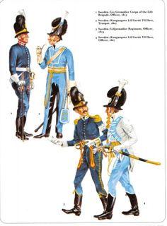 Swedish Grenadiers and Troopers Swedish Army, Empire, Dance Of Death, Army Uniform, Napoleonic Wars, Military History, Revolutionaries, Warfare, Discovery