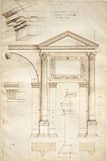 Drawings: Andrea Palladio, Measured drawing of the Arch of Jupiter, Ammon, Verona, ca. RIBA Library Drawings and Archives Collections. Architecture Antique, Architecture Classique, Art Et Architecture, Classic Architecture, Architecture Portfolio, Historical Architecture, Architecture Details, Architecture Illustrations, Sustainable Architecture