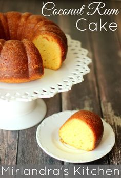This Coconut Rum Cake is a decadent, rich, buttery cake liberally soaked with coconut rum.  It is a easy holiday or party treat for the grown up crowd.  The recipe starts with a cake mix so the active time is about 15 minutes and nobody can tell it's based on a cake mix by the time you are done.   Prepare for deliciousness!