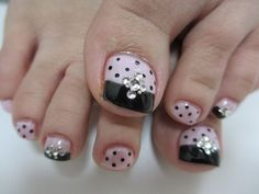Toe nails design More