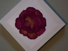 dried rose petals glued to canvas
