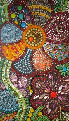 Flowers Mosaic by BrokenBeautyMosaics
